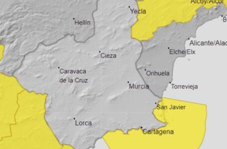 Aviso amarillo por fenómenos costeros en Mazarrón para el jueves