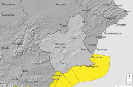 Aviso amarillo por viento en Lorca y Águilas para esta tarde