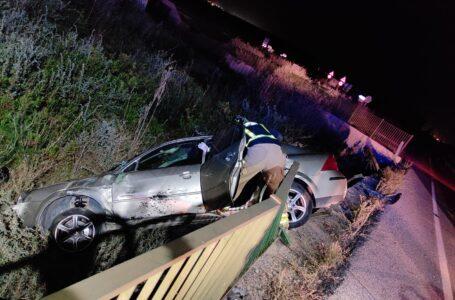 Rescatada tras caer por un terraplén la conductora de un vehículo en Alhama de Murcia