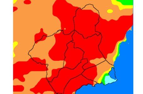 AEMET activa el nivel extremo de riesgo forestal en la mayor parte de la Región