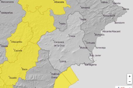 Lorca y Águilas en alerta amarilla este jueves por fuertes rachas de viento