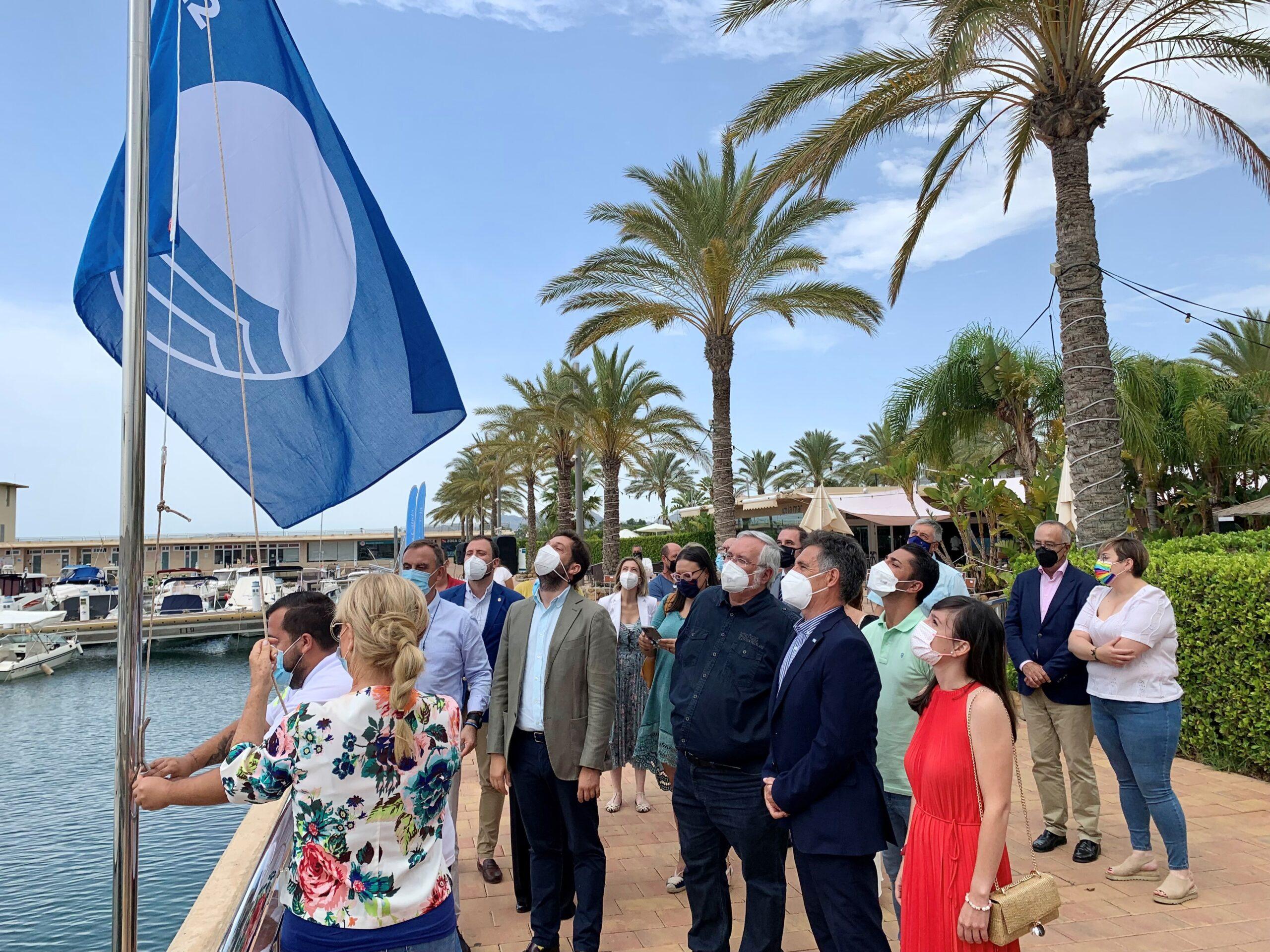 Águilas acoge el acto de entrega de banderas azules de la Región de Murcia