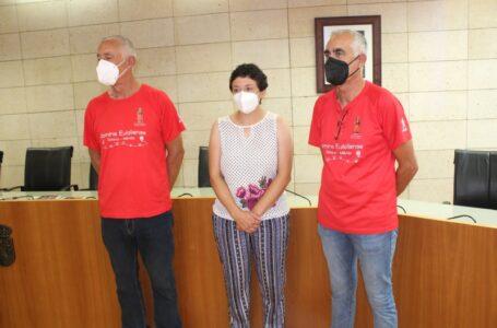 El Ayuntamiento de Totana ofrece una recepción institucional a los peregrinos del Camino Eulaliense