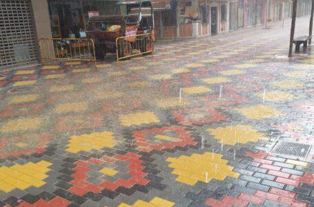 Los efectos de la lluvia obligan a reparar Conde de Aranda para poder retomar las obras