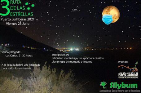 La III salida senderista nocturna «Ruta de las Estrellas» vuelve a Puerto Lumbreras