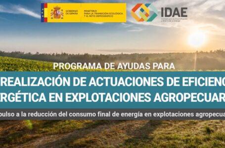 Se abre la convocatoria de ayudas para la eficiencia energética en explotaciones agropecuarias