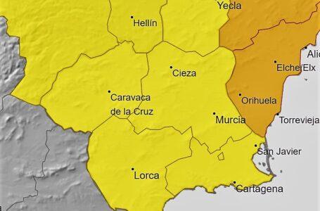 Alerta amarilla por tormentas en Lorca y Águilas