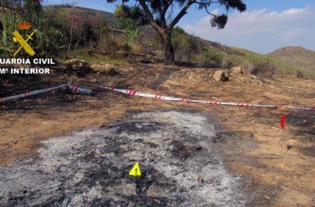 Investigan a un hombre por originar un incendio forestal en el paraje Margajón de Mazarrón